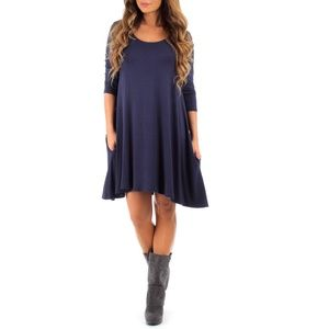 Rags & Couture Long Sleeve Dress